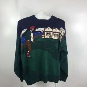 Vintage Hathaway golf themed crew neck sweater.